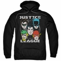 Justice League pull-over hoodie Head Of States adult black