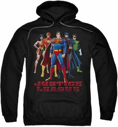 Justice League pull-over hoodie In League adult black