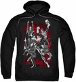 Justice League pull-over hoodie JLA Explosion adult black