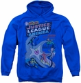 Justice League pull-over hoodie No 28 adult royal blue
