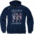 Justice League pull-over hoodie Justice For America adult navy