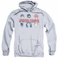 Justice League pull-over hoodie Justice Lineup adult athletic heather