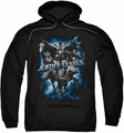 Justice League pull-over hoodie Justice Storm adult black