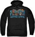 Justice League pull-over hoodie League Lineup adult black