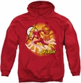 Flash pull-over hoodie Lightning Fast adult red