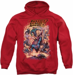 Justice League pull-over hoodie Lost adult red
