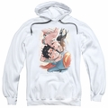 Justice League pull-over hoodie Love Birds adult white