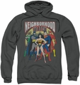 Justice League pull-over hoodie Neighborhood Watch adult charcoal