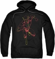 Justice League pull-over hoodie Neon Flash adult black