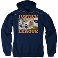 Justice League pull-over hoodie New Dawn Group adult navy
