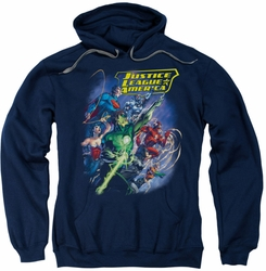 Justice League pull-over hoodie Onward adult navy