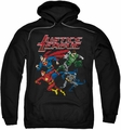 Justice League pull-over hoodie Pixel League adult black