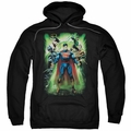 Justice League pull-over hoodie Power Burst adult black