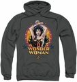 Wonder Woman pull-over hoodie Powerful Woman adult charcoal