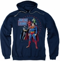 Justice League pull-over hoodie Protectors adult navy