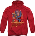 Justice League pull-over hoodie Raise Your Fist adult red