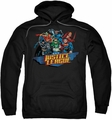 Justice League pull-over hoodie Ready To Fight adult black