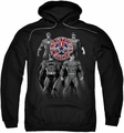 Justice League pull-over hoodie Shades Of Gray adult black