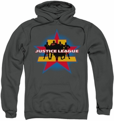 Justice League pull-over hoodie Stand Tall adult charcoal