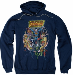 Justice League pull-over hoodie Star Group adult navy