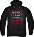 Justice League pull-over hoodie Star League adult black