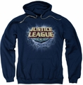 Justice League pull-over hoodie Storm Logo adult navy