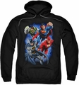 Justice League pull-over hoodie Storm Makers adult black