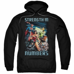 Justice League pull-over hoodie Strength In Number adult black