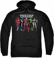 Justice League pull-over hoodie The Big Five adult black