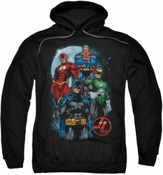 Justice League pull-over hoodie The Four adult black