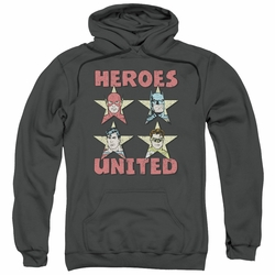 Justice League pull-over hoodie United Stars adult charcoal