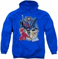 Justice League pull-over hoodie Unlimited adult royal blue