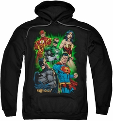 Justice League pull-over hoodie Will Power adult black