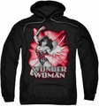 Justice League pull-over hoodie Wonder Woman Red & Gray adult black