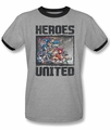 Justice League ringer t-shirt The Change adult heather black