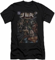 Justice League slim-fit t-shirt #1 Cover mens black