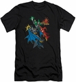 Justice League slim-fit t-shirt Action Stars mens black