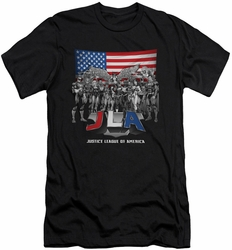 Justice League slim-fit t-shirt All American League mens black
