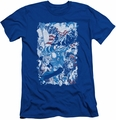 Justice League slim-fit t-shirt American Justice mens royal