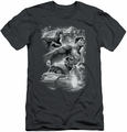 Justice League slim-fit t-shirt Atmospheric mens charcoal