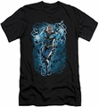 Justice League slim-fit t-shirt Black Lightning Bolts mens black
