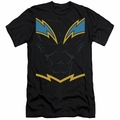 Justice League slim-fit t-shirt Black Lightning mens black