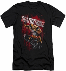 Deathstroke slim-fit t-shirt Blood Splattered mens black