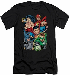 Justice League slim-fit t-shirt Break Free mens black