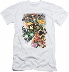 Justice League slim-fit t-shirt Brightest Day #0 mens white