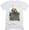 Justice League slim-fit t-shirt Brightest Day Aquaman mens white