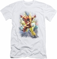 Justice League slim-fit t-shirt Brightest Day Flash mens white