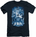Justice League slim-fit t-shirt Burst mens navy