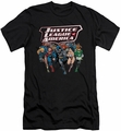 Justice League slim-fit t-shirt Charging Justice mens black