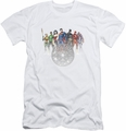 Justice League slim-fit t-shirt Circle Crest mens white